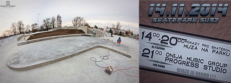 Skatepark w Suszu. Wkrótce otwarcie.